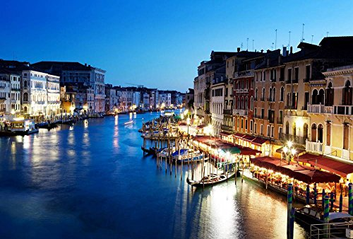 Grand Canal In Venice Italy At Sunset Art Print Canvas Poster,Home Wall Decor(20x30 inch) by FHYGJD