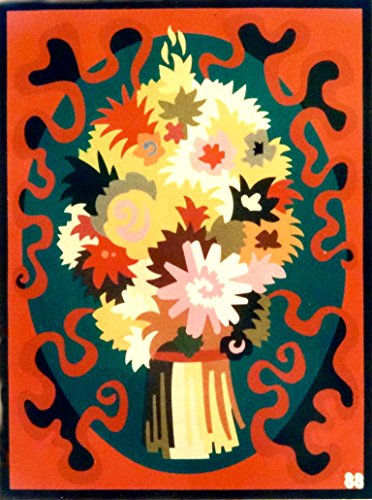 """""""BOUQUET,""""Spanish""""Encanto""""Tapestry PUZZLE,15.5'' X 20.5""""Original Mid-Century Modern, c.1965,100% Virgin Wool Felt,Mint Condition.Do-It-Yourself complete Puzzle kit:more fun, save money too! by Encanto Tapestries"""
