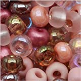 Czech Seed Beads 6/0 'Victorian Rose' Pink Mauve Mix (1 Ounce) by Jablonex
