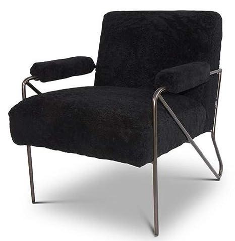 Casa-Padrino Sillón de Diseño Negro 69 x 78 x H. 78 cm ...