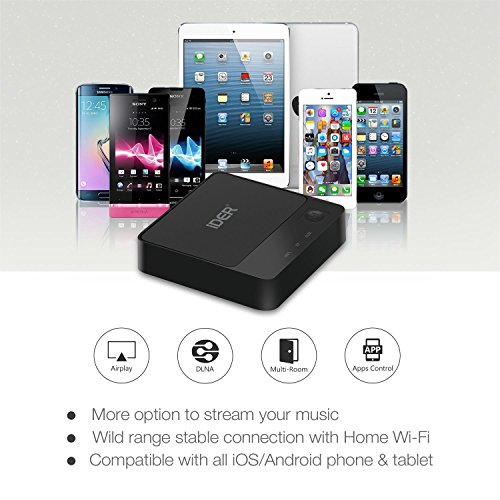 iDER Wireless Wifi & Bluetooth Audio Receiver Adapter for