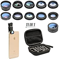 11 in 1 Cell Phone Camera Lens Kit Wide Angle Lens &...