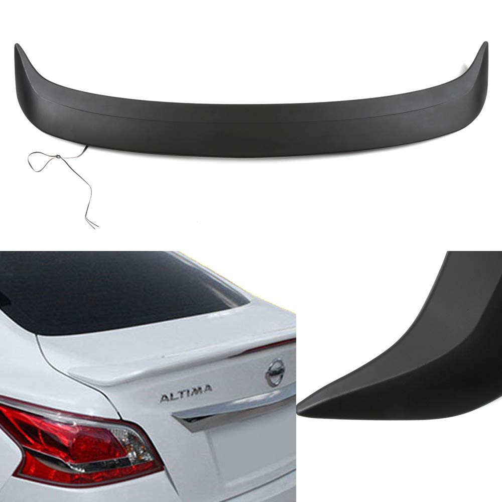 ECCPP ABS Rear Factory Style Spoiler Wing with Brake Lights Unpainted Replacement fit for 2013-2015 Nissan Altima