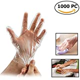 1000 Pcs Large Plastic Disposable Gloves for Kitchen Cooking Cleaning Safety Food Handling Gloves Powder & Sulfur Free