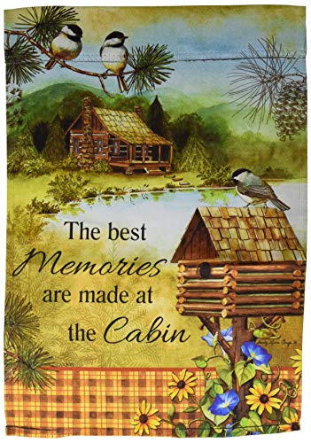 Carson Home Accents FlagTrends 46923 Classic Outdoor Garden Flag, Lodge Birdhouse