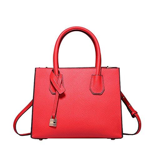 Sac Rouge épaule bandoulière VQ0871A femme à cuir Sac DISSA Sac porté main OBqH8