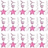 Amscan Party Hanging Swirls Shooting Stars Supplies, Bright Pink