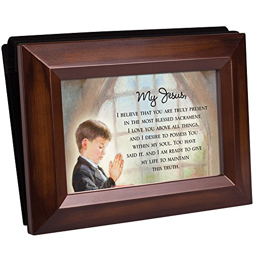 Cottage Garden First Communion Boy Woodgrain Photo Album