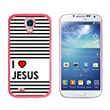 Graphics and More I Love Heart Jesus-Christian Religious Snap-On Hard Protective Case for Samsung Galaxy S4 - Non-Retail Packaging - Pink