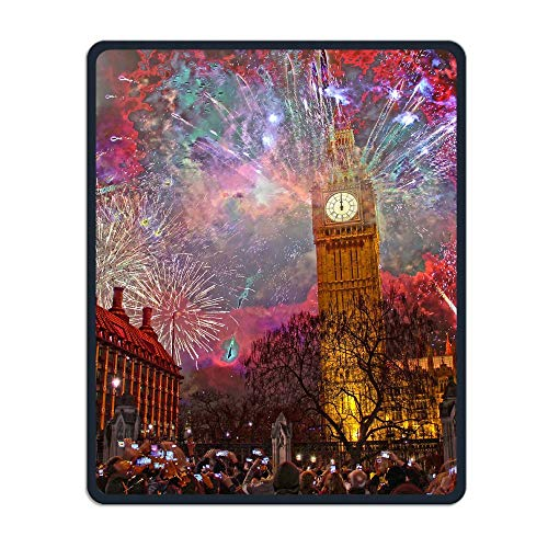 Carnival London Portable Gaming Mouse Pad Comfortable Non-Slip Base Durable Stitched Edges 7.08 X 8.66 Inch, 3mm -