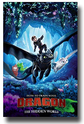 How to Train Your Dragon 3 Poster Movie Promo 11 x 17 inches The Hidden World Pointing -
