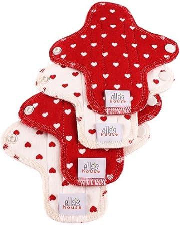 Moon Pads Mini – protege-slip bio lavable de algodón Juego de 4 Hearts: Amazon.es: Salud y cuidado personal