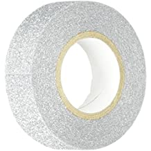 Best Creation GTS001 Glitter Tape, 15mm by 5m, Silver