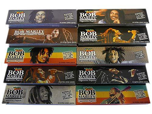 (10) Bob Marley King Rolling Paper 110mm Pure Hemp Cigarette Smoking Paper Bob Marley Rolling Papers