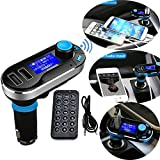 MMOBIEL New Version Professional Bluetooth Wireless MP3 Player FM Transmitter Hands-Free Car Kit Charger Music Dual USB Charging Micro SD/TF Card Reader Slot