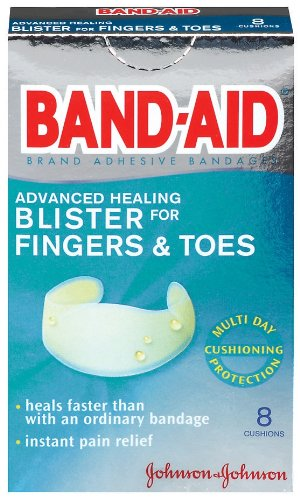 Band-Aid Brand Adhesive Bandages, Advanced Healing Blister Cushions for Fingers & Toes, 8-Count Boxes (Pack of 6) Band Aid Advanced Healing Blister Cushions