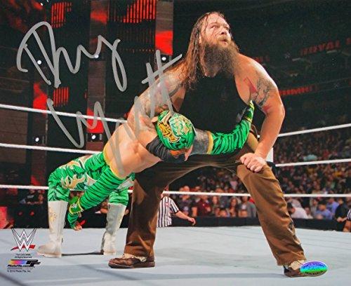 Bray Wyatt Signed WWE 8x10 Photo vs Sin Cara SI