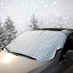 Windshield Cover for Ice and Snow Sun Shade Protector Syolee Winter Car Window Cover, Waterproof Windproof Dustproof Fit for Most Car, Suv, Truck