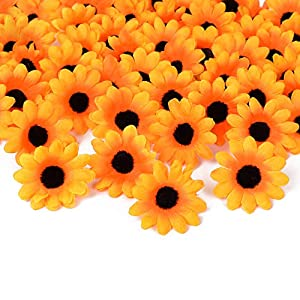 HZOnline Artificial Silk Daisy Flower Heads, Fake Fabric Gerbera Floral Head for DIY Easter Eggs 7