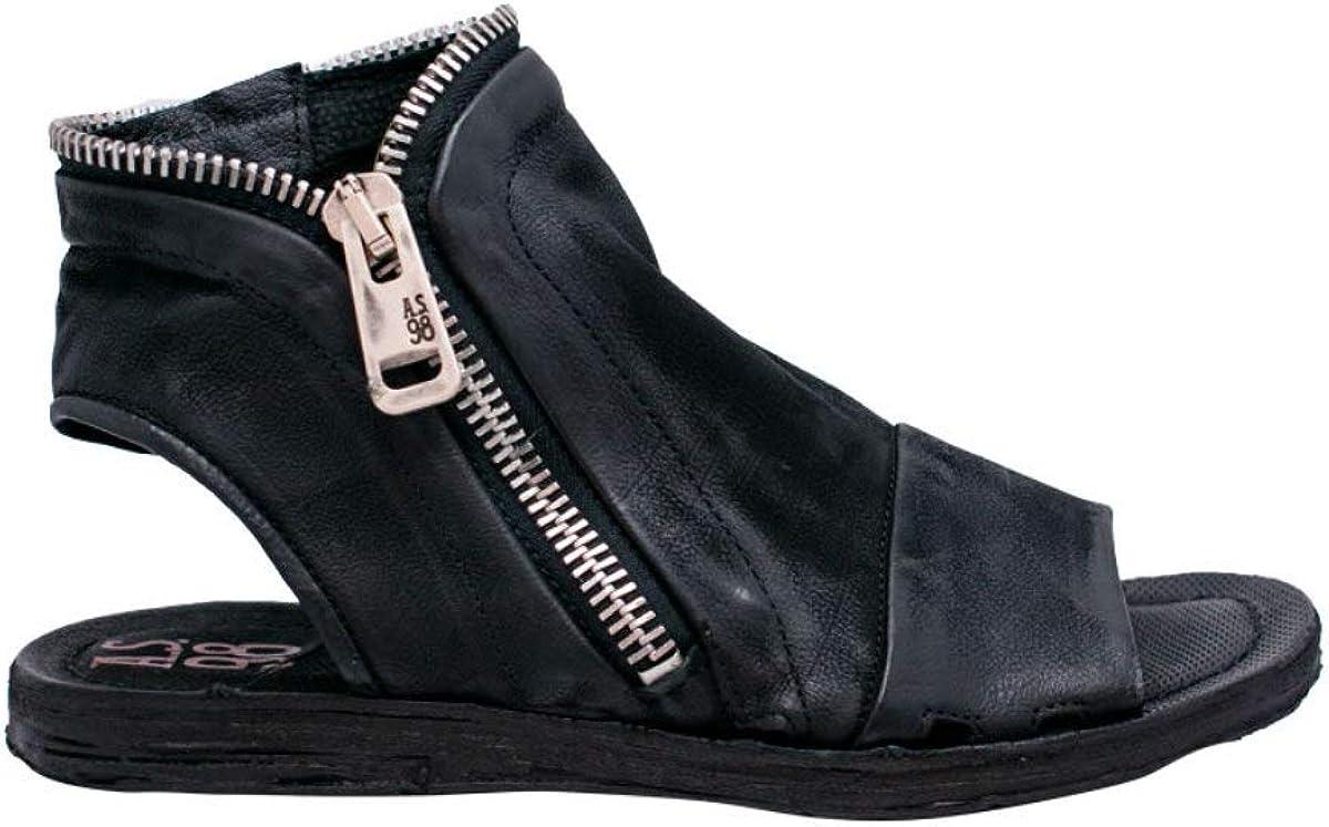A.S 98 Damen-Sandalen aus Leder 534095 101 Schwarz Bass Schwarz