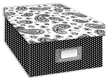 Pioneer Photo Albums B-1BW Photo Storage Box, Damask Design B-1BW/damask