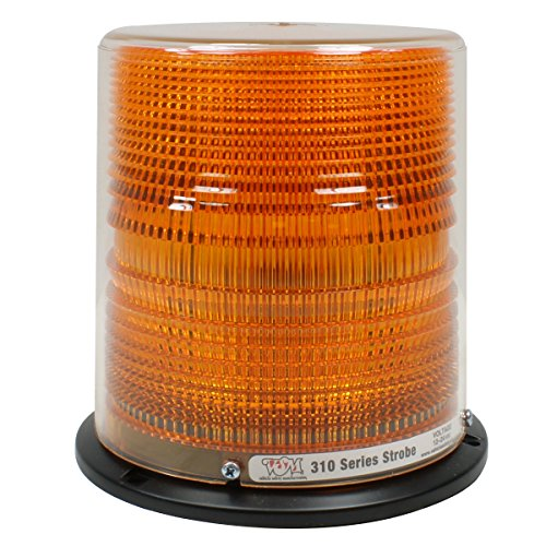 Vehicle Safety Manufacturing 310AD Amber Universal Strobe Lamp (Quad Flash, Rubber Base, Dust Cover, and Mounting Hardware)