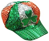 St. Patrick's Day Tri Color Sequin Shamrock NewsBoy Hat