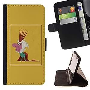 Momo Phone Case / Flip Funda de Cuero Case Cover - Rey Parodia Caricatura Monarquía Corona Hombre - Apple Iphone 6 PLUS 5.5