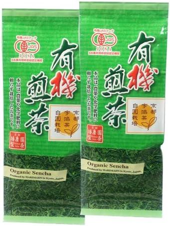 京都 播磨園精茶 有機煎茶80g×2袋