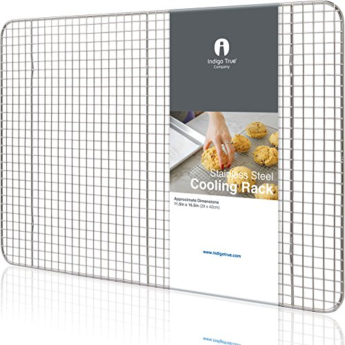 Rod Iron Bakers Rack - Cooling Rack Stainless Steel Half size - Commercial Grade Steel 11.5