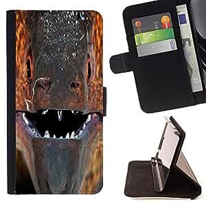 BullDog Case - FOR/Sony Xperia Z1 L39 / - / murena ryba past vzglyad makro /- Monedero de cuero de la PU Llevar cubierta de la caja con el ID Credit Card Slots Flip funda de cuer