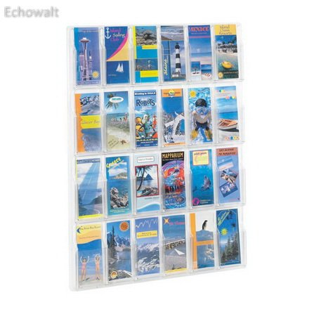 Home Office Products Reveal 24 Pamphlet Display Clear - Echowalt update