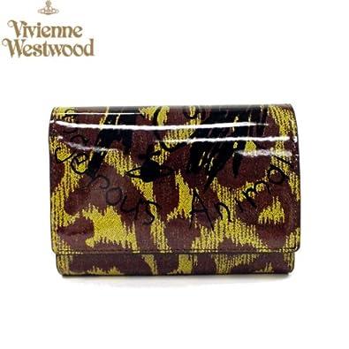 f30402515003 Amazon   Vivienne Westwood ヴィヴィアン ウエストウッド 財布 コーティング ヒョウ柄 二つ折り ブラウン 並行輸入品    Vivienne Westwood(ヴィヴィアンウエスト ...