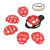 Echeer Golf Ball Marker, Golf Ball Line Makers Golf Ball Line Drawing Marking Alignment Putting Tool, Template Drawing Mark Alignment Putting Tool for Golfer Training Accessories (Pack of 7)