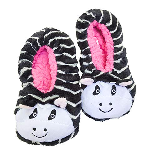 Kids zebra slippers