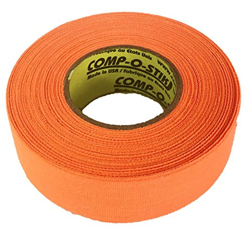 3 Rolls of Comp-O-Stik NEON ORANGE Hockey Lacrosse Bat Cloth Stick Tape ATHLETIC TAPE (3 Pack) Made In The U.S.A. 1'' X 60'