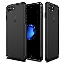 iPhone 7 Plus / 6s Plus / 6 Plus Case Patchworks Sentinel Case in Jet Black - Military Grade Protection, Micro Texture Clear Transparent Dual Layer Cover Protective Bumper Case