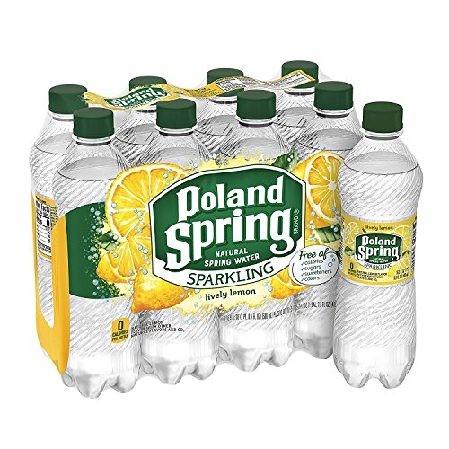 Poland Spring Sparkling Spring Water,Lemon 16.9 fl oz. (Pack of 6)