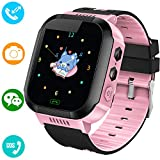 Kids Smart Watches Phone - 1.4' Touch Screen Children Phone Wristwatch with Call SOS Voice Chat Camera Flashlight Alarm Learning Games Toy Halloween Thanksgiving Gifts for Boys Girls Age 4-12 (Pink)