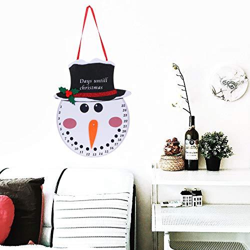 [해외]Olgaa Hanging Snowman Santa Advent Calendar Christmas Countdown Calendar for Indoor Outdoor Decoration (Snowman Countdown) / Olgaa Hanging Snowman Santa Advent Calendar Christmas Countdown Calendar for Indoor Outdoor Decoration (Sn...
