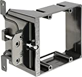 Arlington LVA2-10 Adjustable Depth Low Voltage Mounting Brackets, Fits up to 1-1/2-Inch Walls, 2-Gang, 10-Pack