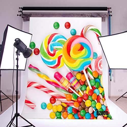 LB 5x7ft Candy Vinyl Photography Backdrop Customized Photo Background Studio Prop (Rules For Halloween Candy)