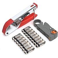 Compression Tool F BNC RCA RG6 RG59 Connector Fitting Cable Coax Coaxial Crimper