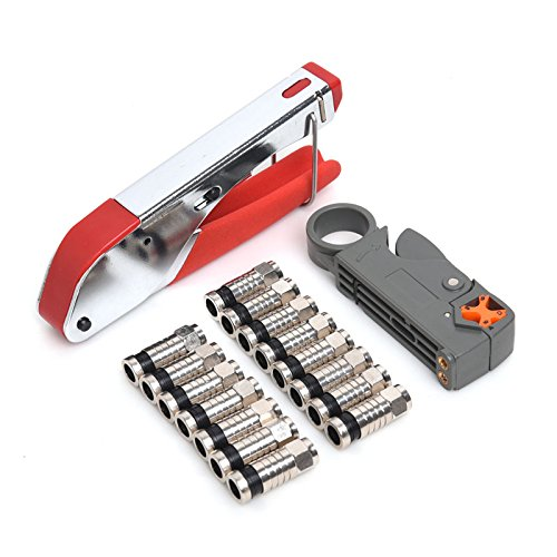 Compression Tool F BNC RCA RG6 RG59 Connector - F Connector Compression
