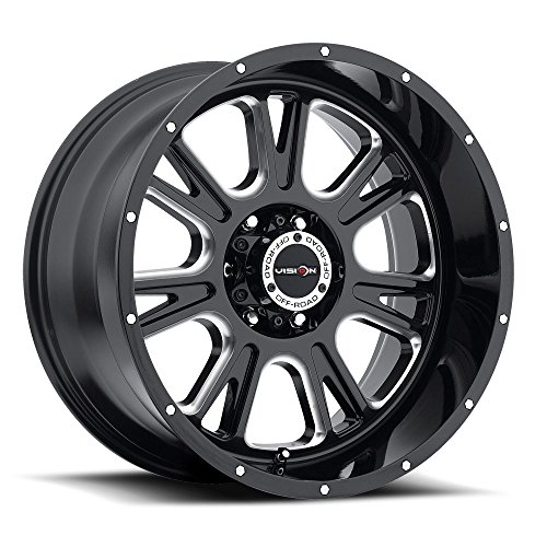 UPC 886821102488, 17 inch 17x8.5 Vision Off-Road Fury Gloss Black Milled Spoke wheel rim; 6x5.5 6x139.7 bolt pattern with a +0 offset. Part Number: 399-7883MS0