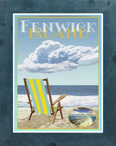 Amazon com : Fenwick Island Beach Chair-Framed, Art-Deco
