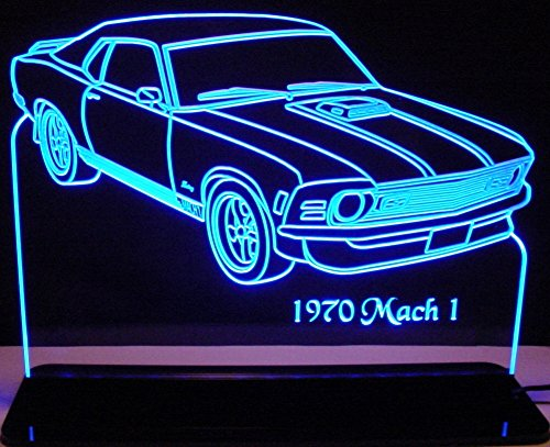 1970 Mustang Mach 1 Acrylic Lighted Edge Lit 11-13