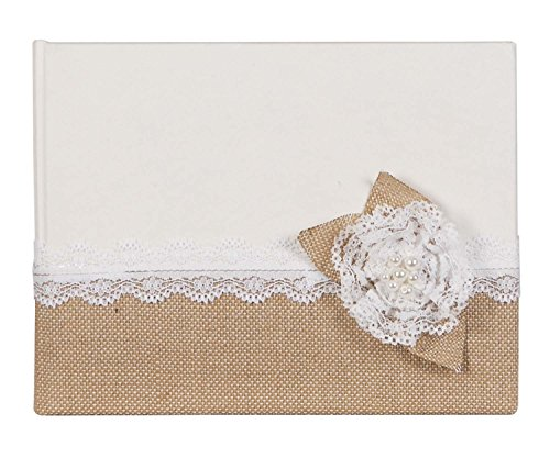 Fabric Padded Photo Albums (C.R. Gibson Wedding Guest Book, Space for 600 Names, Measures 7.5