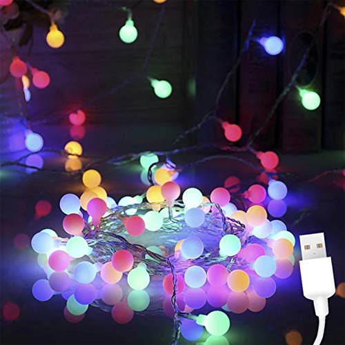 ANVAVA Cadena de Luces LED Guirnaldas Luces de Interior 100M con 50 Bombillas Cadena de luces para Dormitorio Infantil…