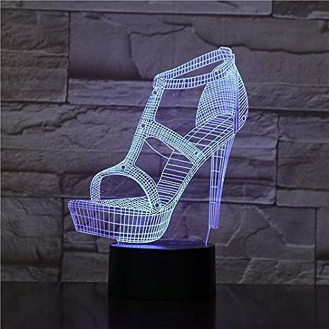Zapatos de tacón alto Decoración 3D Mesa de luz nocturna ...